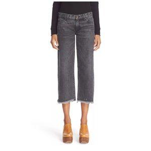 Simon Miller Varra Crop Jeans Black Wash Frayed